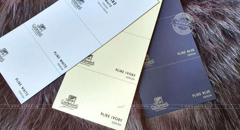 Chất liệu giấy in card visit tại Azoka