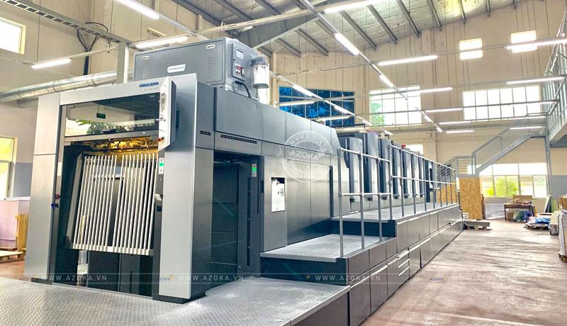 Thiết bị in tại Azoka được đánh giá hiện đại và tiên tiến bậc nhất hiện nay