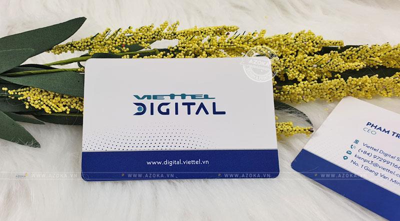 Mẫu card visit cao cấp bằng chất liệu nhựa Plastic do Azoka thực hiện