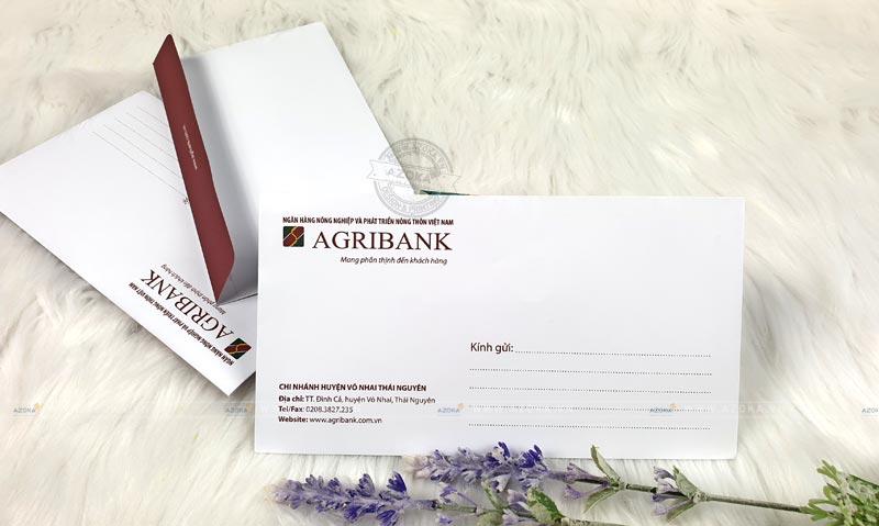 Mẫu phong bì A6 của Agribank do Azoka thực hiện