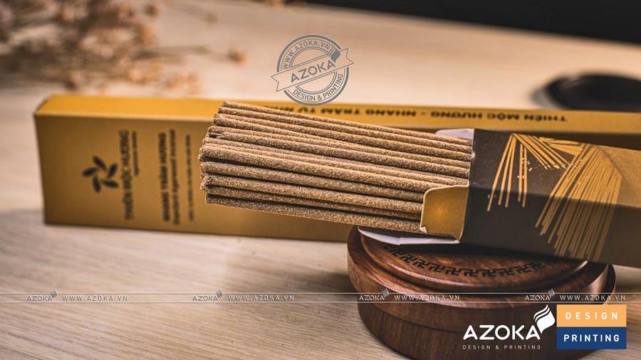 Làm hộp giấy hương nhang đẹp. Thiết kế độc đáo, màu trầm phù hợp với sản phẩm là hương.