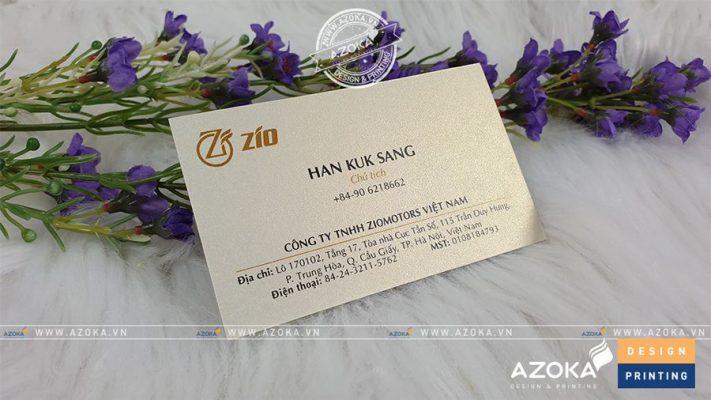 Mẫu card visit mỹ thuật công ty Zio