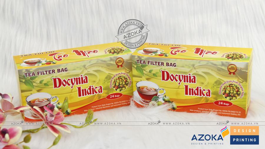 Mẫu hộp giấy đựng trà Indica