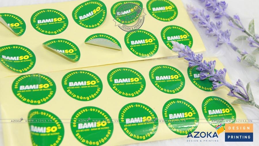 Mẫu sticker dán Bamiso