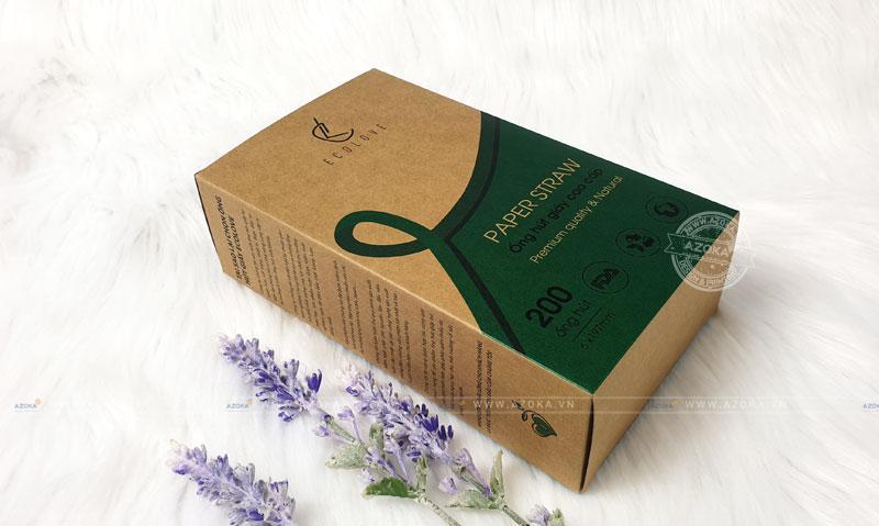 Mẫu hộp giấy đựng ống hút giấy của Ecolove do Azoka thực hiện