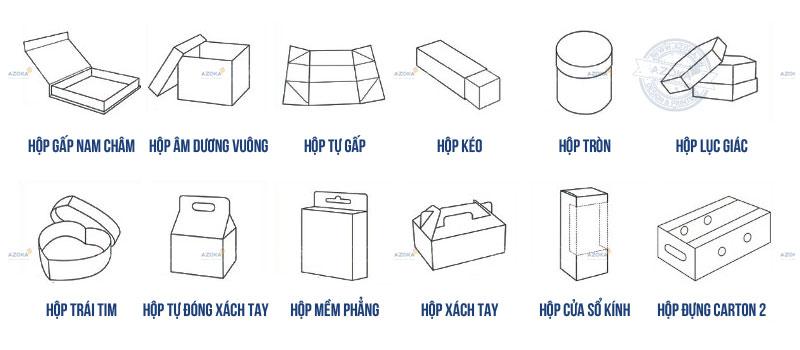 Mẫu hộp giấy thông dụng