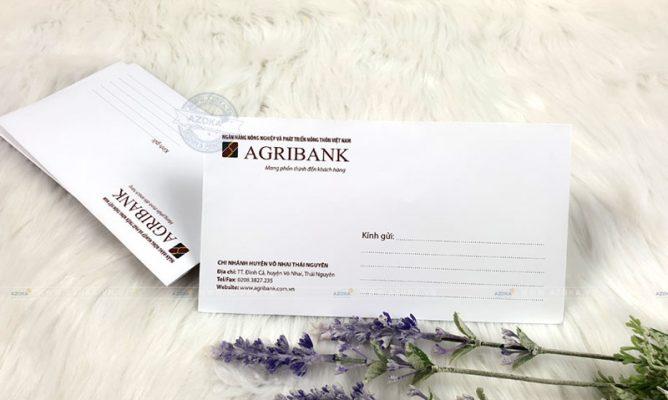 Mẫu phong bì ngân hàng Agribank