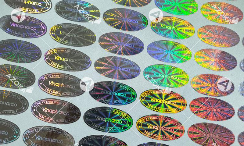 Mẫu tem 7 màu hologram của Vinapharco do Azoka thiết kế và in ấn