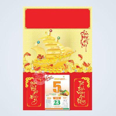 Phông lịch Tết 2021 chủ đề Thuận Buồm Xuôi Gió