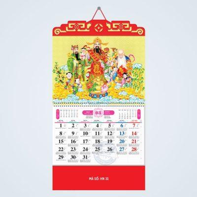 Mẫu lịch lò xo 2021 chủ đề Phúc Lộc Thọ