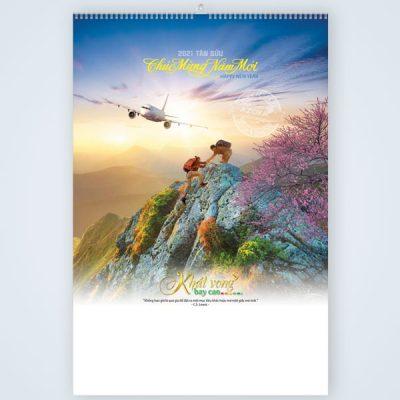 Lịch treo tường lò xo 7 tờ chủ đề Khát vọng bay cao