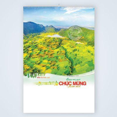 Lịch 7 tờ chủ đề Việt Nam nhìn từ trên cao