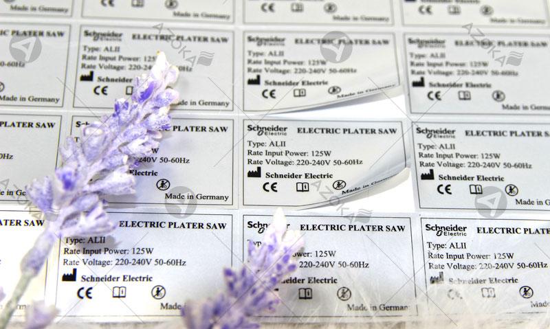 In tem bạc, decal bạc, bạc thiếc, decal xi bạc cho hãng Schneider Electric tại Việt Nam