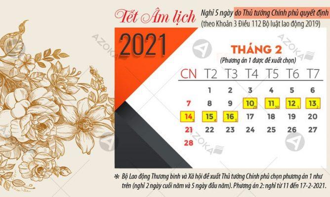 Lịch nghỉ Tết Nguyên đán Tân Sửu năm 2021